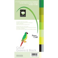 Cricut 12x6 Cardstock Greens & Black Item 40-1629